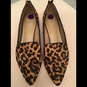 Franco Sarto Leopard Pony Hair Shoes 8.5